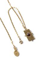 Necklace with rectangular tarot pendant image