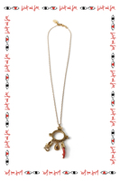 Chain necklace with coral charm  image