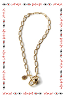 Garnet chain necklace with charm  image