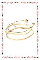 Bangle bracelet with orbs  image