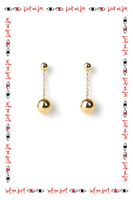 Chain earrings with orb drops image