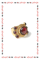 Statement ring with garnet stones  image