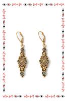 Tourmaline drop earrings with swirls  image