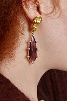 Earrings with purple drops image