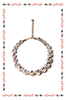Necklace with rounded crystals image