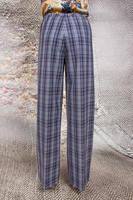 Plaid wide leg pants   image
