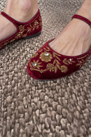 Embroidered ballerina shoes  image