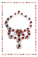 Necklace in Transparent Acqua and Ruby image