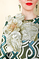 Gold flower brooch  image