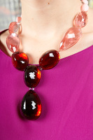 Necklace in Rose and Transparent Raspberry image