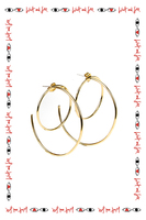 Double Hoop Earrings  image