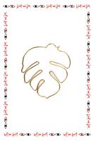 Single Palm leaf  earring image