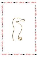 Single Seahorse earring image