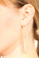 Drop shaped horn earrings image
