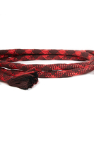 Red And Burgundy Rope Belt  image