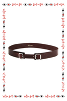 Double Buckle Slim Leather Belt  image