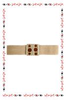 Beige Mid Width Elasticated Belt  image