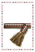 Green Geometric tie belt  image