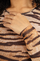 Fitted dress in tiger print  image