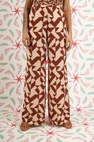 Wide leg pants in geometric print  image