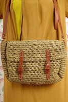 Shoulder Bag in Woven Raffia  image