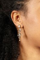 Crystal and pearl drop earrings  image