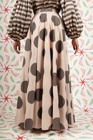 Long skirt with polka dots  image