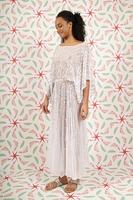 White embellished dress  image