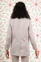 Striped tailored blazer image