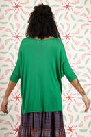 Emerald oversized v neck sweater  image