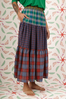Long skirt in mixed plaid  image