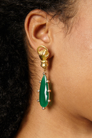 Earrings with green drops image