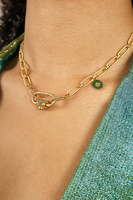 Chain necklace with clover charm  image