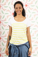 Linen t-shirt with stripes  image