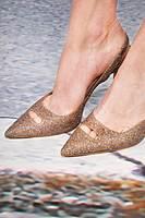 Shimmering glittery slingback pumps image