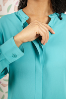 Aqua Shirt with Grandad Collar image