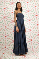 Voluminous long dress with tassels  image