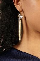 Tiger fringe earrings image