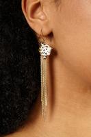 Leopard fringe earrings image