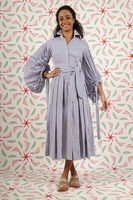 Striped shirt dress  image