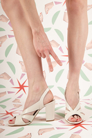 Ivory Leather Sandals image