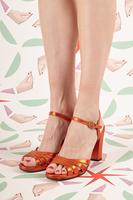 Metallic Tangerine Sandals  image