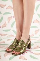 Metallic Olive Sandals image