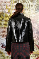 Biker jacket in  patent leather image