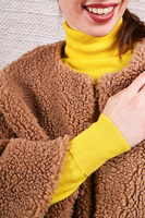 Cropped teddy coat  image