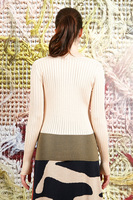 Sweater with ribbing and contrast band  image