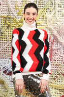 Oversized turtleneck with zig zags  image