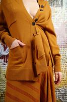 Mustard wool cardigan  image