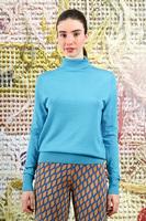 Blue wool turtleneck  image