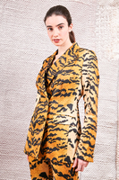 Double breasted blazer in tiger print  image